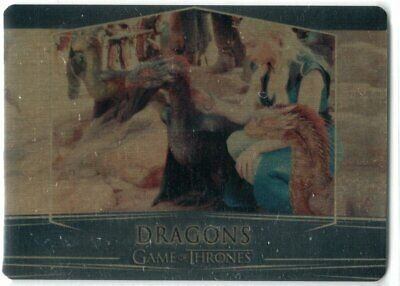 Game Of Thrones Valyrian Steel Se Gold Parallel Base #58 Dragons 038/100