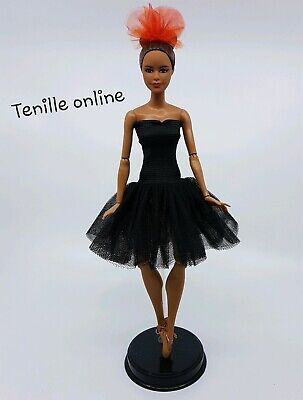 New Barbie beautiful clothes outfit black ballerina tutu dress ballet