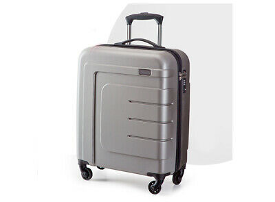 "D89 28"" ABS PC Gray Password Lock Portable Case Trolley Travel Bag Suitcase S"