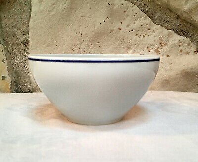 One Limoges GEORGES BOYER MARINE White & Blue Coupe Cereal Bowl (4 available)
