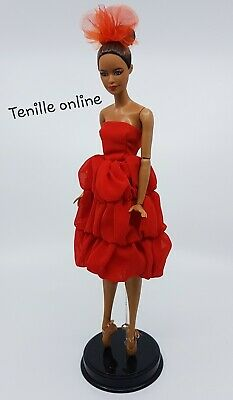 New Barbie beautiful clothes outfit red party cocktail short prom wedding dress