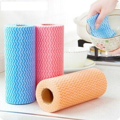 Disposable Cleaning Cloth 50pcs Non Woven Scouring Pad Kitchen Wiping Dishcloths
