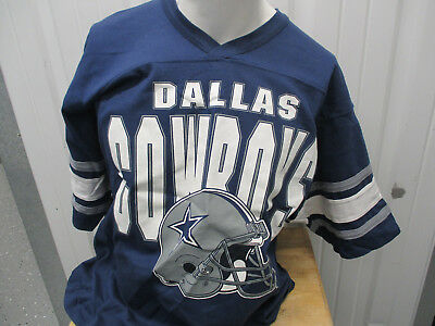 fb49f7a5 VINTAGE TEAM RATED DALLAS COWBOYS #22 LARGE SHIRT JERSEY BLUE GREY 90s  PREOWNED
