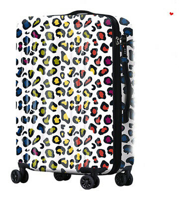 D593 Lock Universal Wheel Leopard Grain Travel Suitcase Luggage 24 Inches W