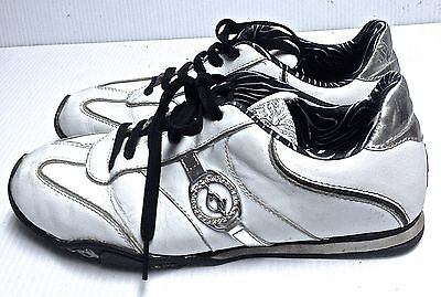 1ef6ab2e5ab BABY PHAT women's WHITE LEATHER FASHION SNEAKERS SZ 8.5 VERY GOOD CONDITION