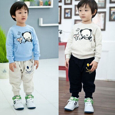 Baby Boys Girls Casual Pocket Smiling Faces Harem Pants Kids Trousers