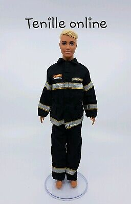 ken doll barbie clothes outfit fire fighter uniform