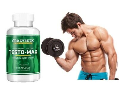 New!!! TESTO-MAX by CRAZYBULK Testosterone! Gain Lean Muscle Increase Sex Drive!