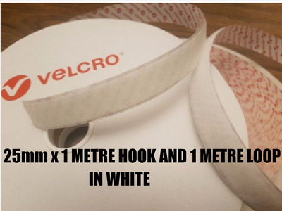 VELCRO PS14 Self Adhesive Hook & loop Sticky Backed tape fastener 25mm x 1 metre