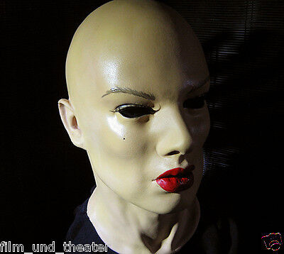 Latex Mask GEISHA +LASHES - Real. Female Rubber Woman Face Crossdresser Maid