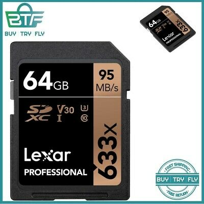 Sdhc Uhsi Lexar Professional 64Gb Sd Card Image Rescue 95 Mbs All Camera Type