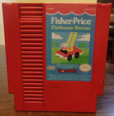 Fisher-Price: Firehouse Rescue(Nintendo NES) Reconditioned Authentic Please Read