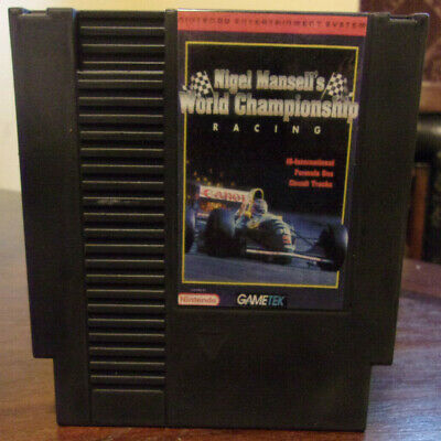 Nigel Mansell's World Racing(Nintendo NES) Reconditioned Authentic - Please Read