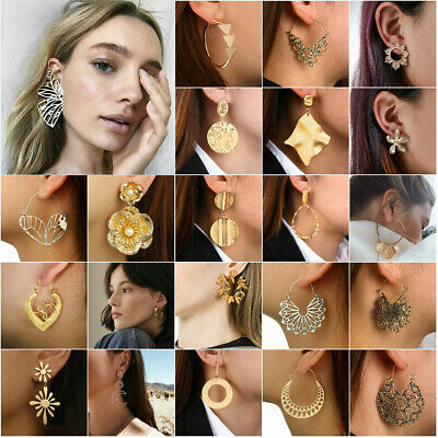 Hoops Jewellery Boho Spiral Brass Gypsy Earrings Tribal Ethnic Festival Indian
