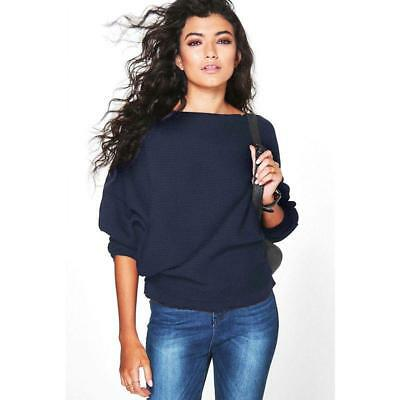 2019 Autumn &Winter Long Batwing Sleeve Warm Pullovers Top Loose Short FW