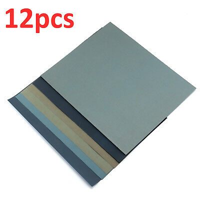 Wet And Dry Paper 1500,2000,2500,3000,5000,8000 Grit 2 Of Each Sandpaper Quality