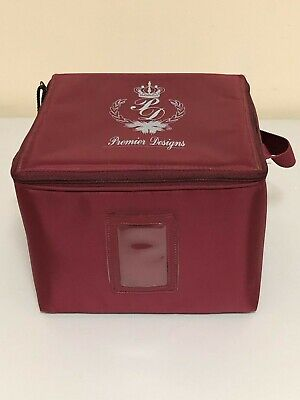 "Premier Designs Jewelry Case 3 Stackable Trays & Display Pads  ""EUC"""