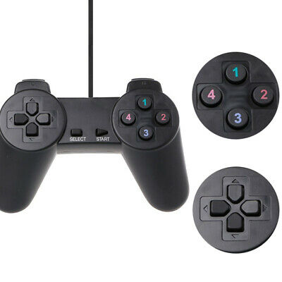Wired Gamepad Game Controller Joypad USB For Laptop PC Computer PS1 Black X0Y1S