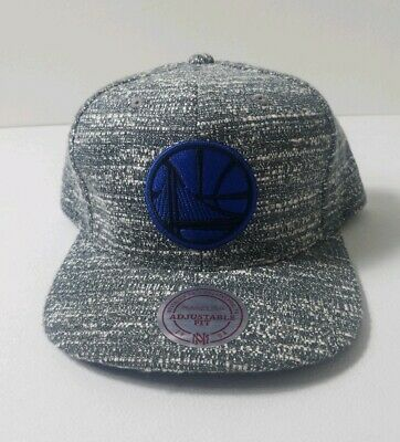finest selection 5d1c3 fd1f5 Golden State Warriors Mitchell Ness Snapback Hat Cap Heather Gray Noise NWT  NBA