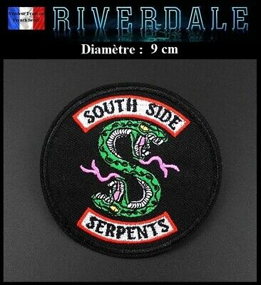Écusson Brodé Thermocollant NEUF Patch Embroidered Riverdale South Side Serpents