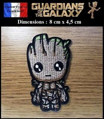 Écusson Brodé Thermocollant NEUF Patch Embroidered Groot Guardians of the Galaxy