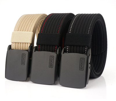 "47"" ENNIU Belt Leisure Thick Nylon Tactical Belt Zine Alloy Buckle Belt Unisex"