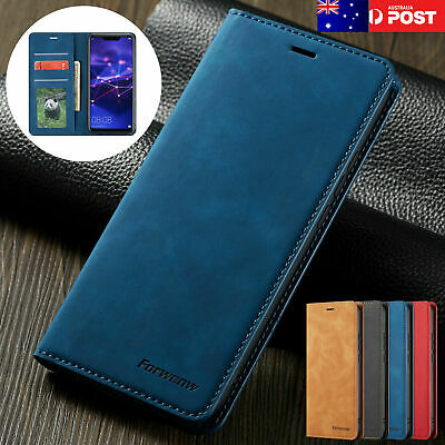 For Samsung Galaxy A50 A30 A70 A20 Magnetic Leather Card Stand Wallet Case Cover