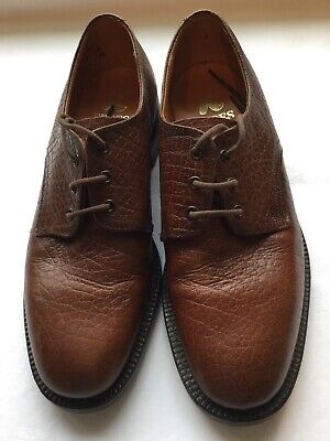 Vintage K Shoes Derby Style grained brown leather size 7UK hardly worn quality