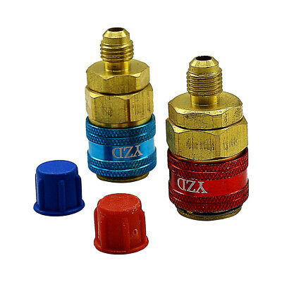 Pressure Car Quick Coupler Connector Air Conditioning Refrigerant AC Manifold