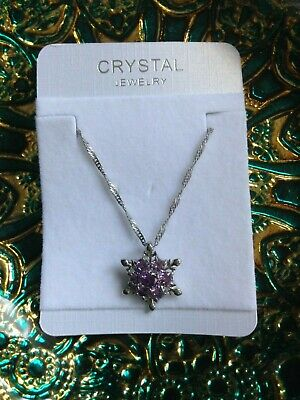 NEW Snowflake flower Zircon Necklace, occasion, present, theatre /Theatrical.