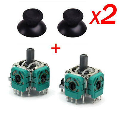 2x For Xbox One 3D Controller Joystick Axis Analog Sensors Module & Thumbstick