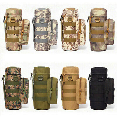 600D Nylon Tactical Molle Water Bottle Cup Carrier Bag Holder Pouch Military UK