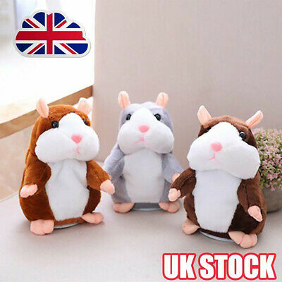 2019 Cute Talking Hamster Nod Mouse Record Chat Mimicry child Plush Toy Gifts UK