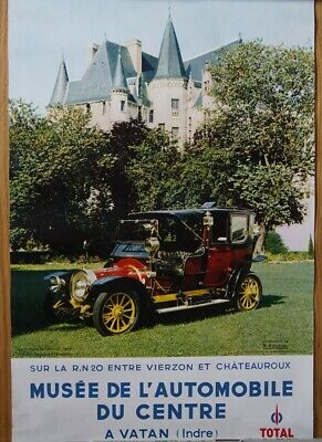 Delaunay Belleville 1908 Poster Musee Automobile Vatan Photo M. Rousell sehr gut