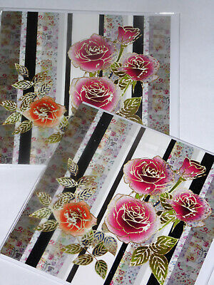 BIRTHDAY CARDS JUST 25p x 12  'TWICE AS NICE' WRAPPED, FOILED, ( F2