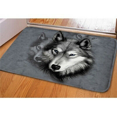 1x Wolf Love Home Doormats Top Fabric&Rubber Doormat Bathroom Rectangle Doormat