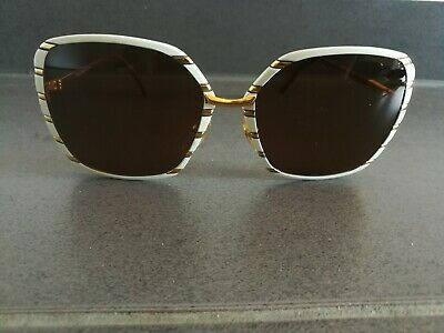 Vintage Helena Rubinstein Hr 1 07 Oversized Square Sunglasses Made In France