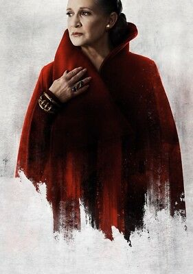 STAR WARS; THE LAST JEDI Movie PHOTO Print POSTER Princess Leia Carrie Fisher 49
