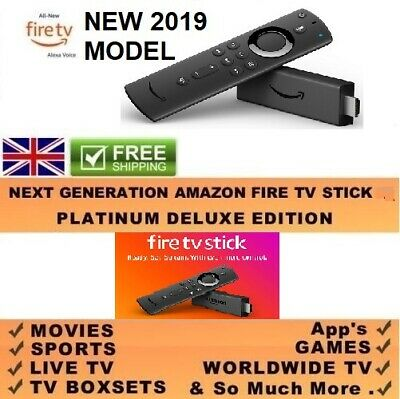 Amazon Fire TV Stick 2nd Gen-Latest Software - Movies , Sport , TV Shows , Kids.