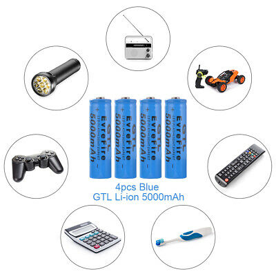 4/6x Genuine GTL 18650 Rechargeable Battery 5000/6800mAh 3.7V Li-ion Batteries