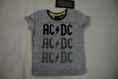 Ac/Dc Repeat Logo Baby Child Kids T Shirt New Official Back In Black For Those