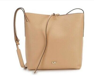 43f554ed1761d9 MICHAEL KORS HAYLEY Large North South Vanilla Acorn Leather Tote Bag ...