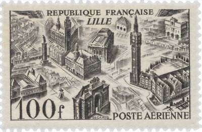 EBS France 1949 Airmail - Aerial View: Lille - Poste Aérienne YT PA24 MNH**