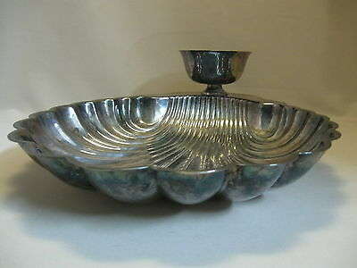 Wm Rogers Silver Plate #89544 Chip & Dip Scallop Shell Bowl Sauce Cup 1878-1976