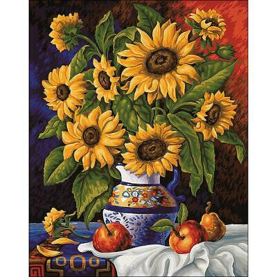 COLLECTION D'ART Diamond Painting Embroidery SUNFLOWER BUNCH Full Drill Square