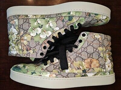 5a241710a Mens Gucci Blooms Shoes sz 10.5 (G 9.5) Supreme GG GREEN Floral Print  AUTHENTIC