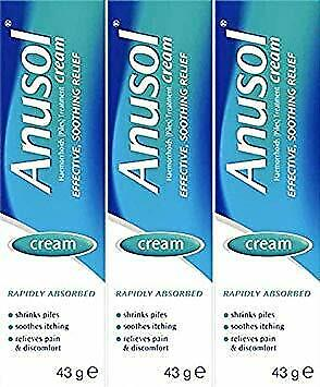 Anusol Cream 43g x 3 Packs. FAST & FREE DELIVERY