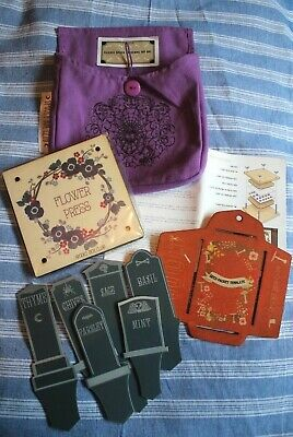 Spooky Box Club ' Gardening Hip Bag and Contents' Headstone Herb Markers & Press