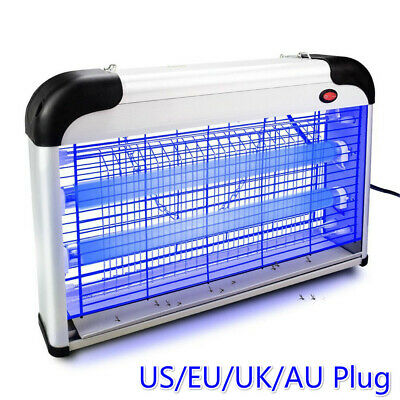 Electric Insect Flying Pest Mosquito Bug Trap Killer Zapper Indoor UV-Lamp US/EU