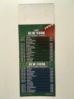 Nfl 2019 New York Jets & New York Giants  Magnet Schedule - New